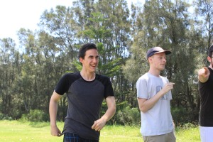 Sam Lovell (Left) at the 2014 Playmates Training Day BBQ