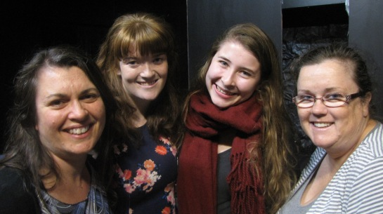 Louisa Raft, Jenn Jackson, Rebecca Ellis (writer) and Bernadette Le Mesurier in